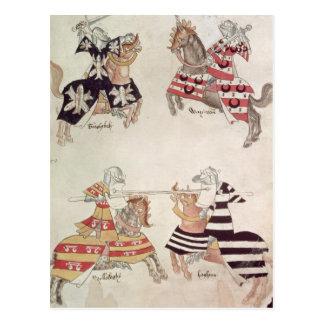 Carte Postale Chevaliers joutants, de Book de monsieur Thomas