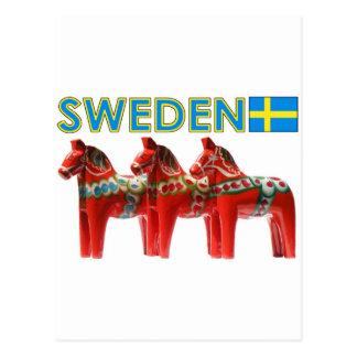 Carte Postale Chevaux de la Suède Dala