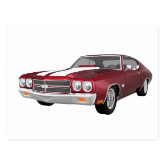 Carte Postale Chevelle 1970 solides solubles : La sucrerie Apple