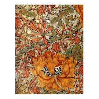 Carte Postale Chèvrefeuille de William Morris