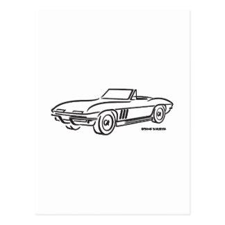 Carte Postale Chevrolet Corvette 1966