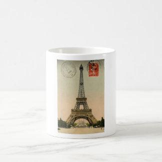 Carte postale chic française vintage de Paris de T Mugs À Café