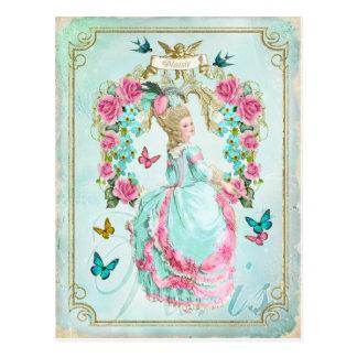 Carte postale chic minable de papillon de Marie