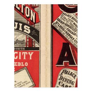 Carte Postale Chicago et chemin de fer d'Alton