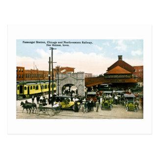 Carte Postale Chicago et chemin de fer du nord-ouest, Des