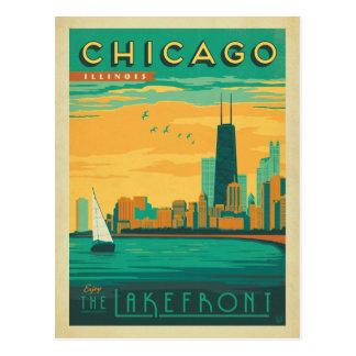 Carte Postale Chicago, IL - appréciez le bord du lac