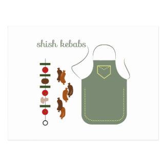 Carte Postale Chiches-kebabs de Shish