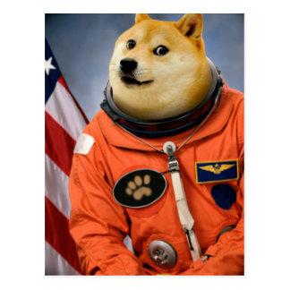 Carte Postale chien d'astronaute - doge - shibe - memes de doge