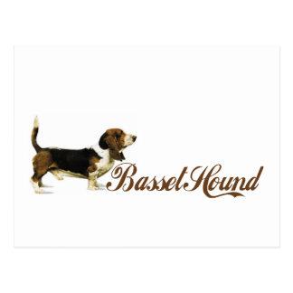 Carte Postale chien de basset