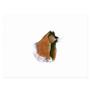 Carte Postale Chien de Basset Hound, fernandes élégants