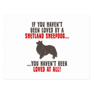 Carte Postale Chien de berger de Shetland