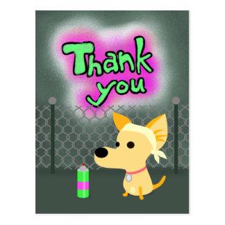 Carte Postale Chien de Merci de graffiti