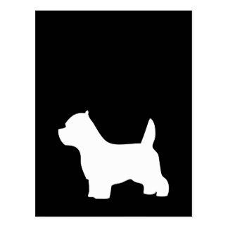 Carte Postale Chien de Terrier blanc de montagne occidentale,