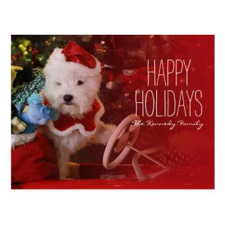 Carte Postale Chien de Terrier blanc de montagne occidentale