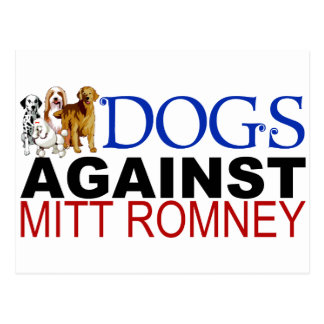 Carte Postale Chiens contre Mitt Romney