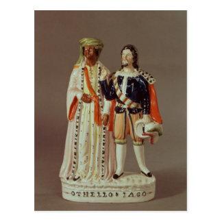 Carte Postale Chiffre du Staffordshire d'Othello et d'Iago,