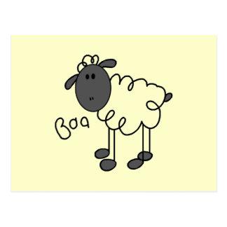 Carte Postale Chiffre T-shirts et cadeaux de bâton de moutons