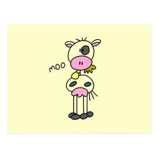 Carte Postale Chiffre T-shirts et cadeaux de bâton de vache