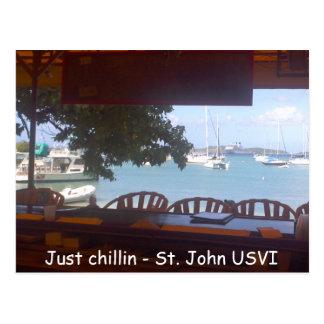 Carte Postale Chillin sur St John