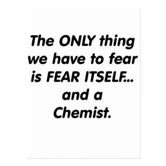 Carte Postale Chimiste de crainte