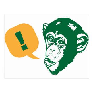 Carte Postale Chimpanzé de surprise