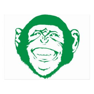 Carte Postale Chimpanzé riant