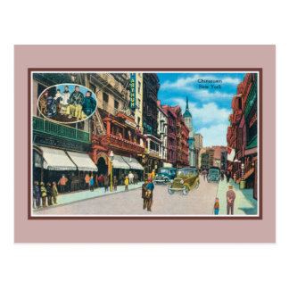 Carte Postale Chinatown vintage New York City
