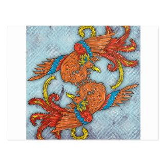 Carte Postale Chinois Phoenix