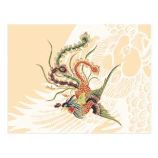 Carte Postale Chinois Phoenix - oiseaux mythologiques AR de