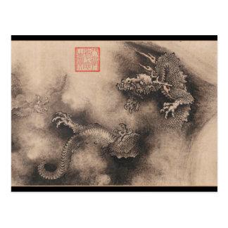 Carte postale chinoise de signe de zodiaque