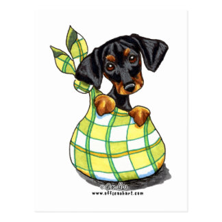 Carte Postale Chiot de sac à Pinscher de dobermann