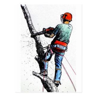 Carte Postale Chirurgien d'arbre d'arboriste Stihl