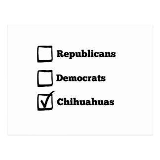 Carte Postale Chiwawas de sélection ! Chiwawa politique