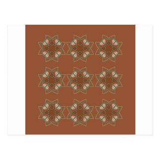 Carte Postale Chocolat d'éléments de conception