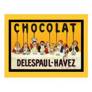 Carte Postale Chocolat Delespaul Havez