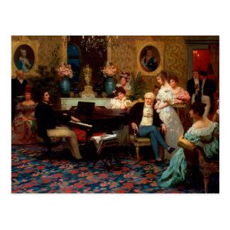 Carte Postale Chopin jouant le piano