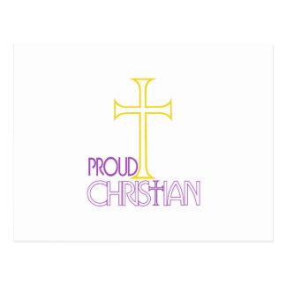 Carte Postale Chrétien fier