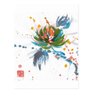 Carte Postale Chrysanthème de carnaval