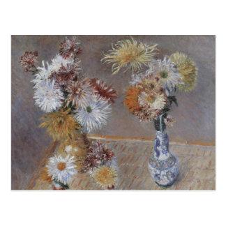Carte Postale Chrysanthèmes par Gustave Caillebotte
