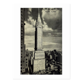 Carte postale, Chrysler construisant, New York
