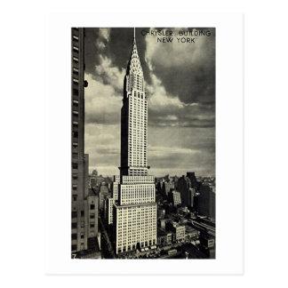 Carte postale, Chrysler construisant, New York
