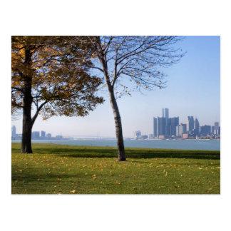 Carte Postale chute à Detroit