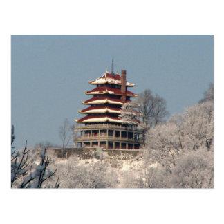 Carte Postale Chutes de neige sur la pagoda