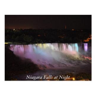 Carte Postale Chutes du Niagara la nuit