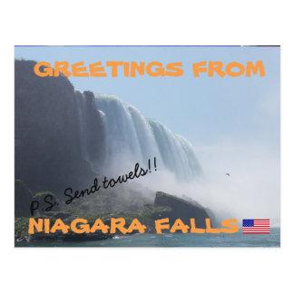 Carte Postale Chutes du Niagara New York, Etats-Unis