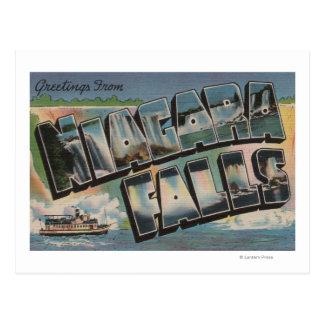 Carte Postale Chutes du Niagara, New York - grandes scènes 2 de