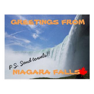 Carte Postale Chutes du Niagara Ontario Canada