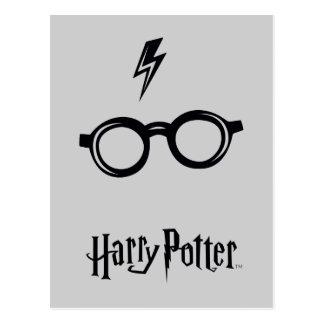 Carte Postale Cicatrice et verres de foudre du charme | de Harry