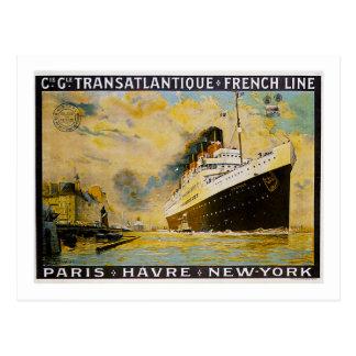 Carte Postale Cie. Gle. Voyage vintage de croisière de