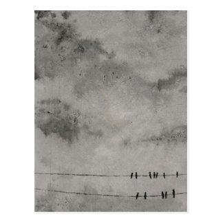 Carte Postale ciel bleu de googbye